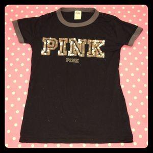 Victoria's Secret PINK sequined ringer tee